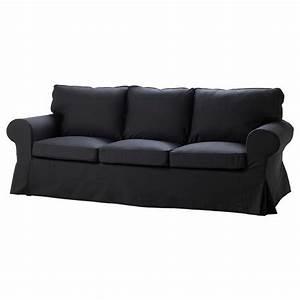 Ikea ektorp sofa idemo black single seat slipcover for Black sectional sofa covers