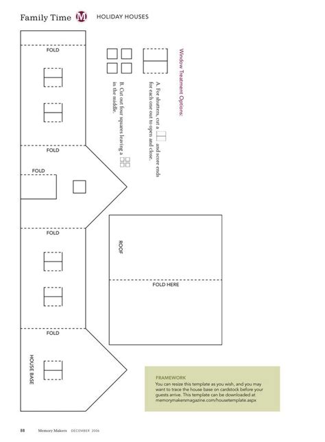 House Template Templates For Putz Houses House Template For Vintage
