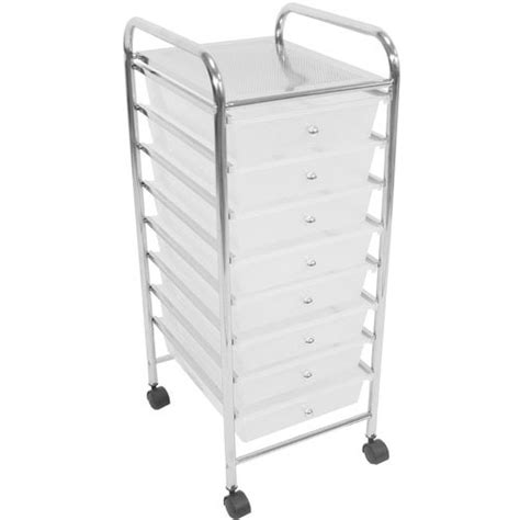 Office Drawers On Wheels by 8 Drawer Chrome Finish Office Salon Bathroom Storage