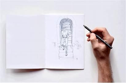Draw Tools Drawing Sketchbook Pencils Hand Sunflowerman