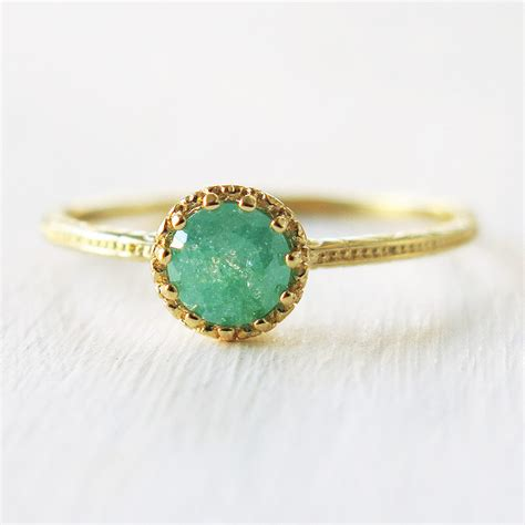 ring gold ring stone ring crystal ring band ring by sohocraft