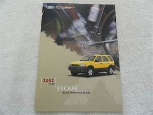 2002 Ford Escape Quick Reference Guide Owners Manual