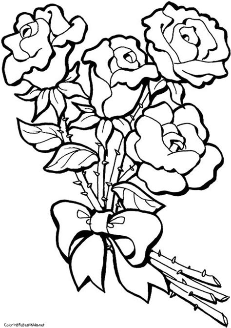 Coloring Roses by Coloring Pages Bestofcoloring