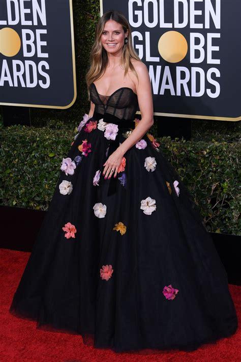 Heidi Klum Golden Globe Awards Red Carpet