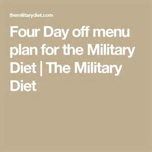 Military Diet Menu Printable