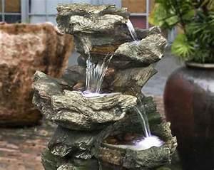 Cascade Solaire. fontaine solaire cascade rocher solairepratique ...