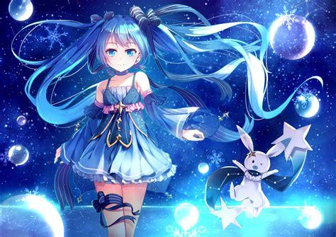 Anime Wallpaper Blue - blue blue hair hair anime anime