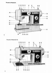Necchi 521 521fb Instruction Manual