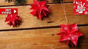3d Sterne Aus Papier Basteln : diy weihnachtsdeko basteln 3d sterne aus papier falten ~ Lizthompson.info Haus und Dekorationen