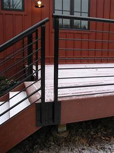 Trex Rear Deck And Railings Farmhouse Exterior
