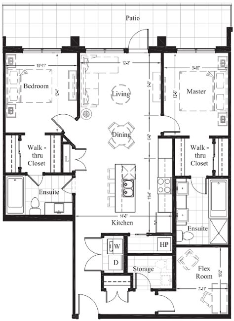 2 bedroom condo floor plans suite 106 1 252 sq ft new condo floor plan