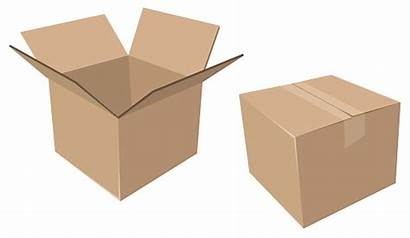 Open Cardboard Closed Boxes Moving Vector Box