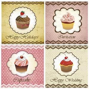 Delicious Cupcakes design elements vector 04 - WeLoveSoLo