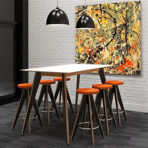 High Tables by Ligni High Table Wooden Canteen Table High Meeting Table