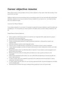 resume objective exles for field sle career objective statements make be goal for your potition