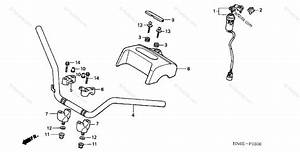 Honda Atv 2004 Oem Parts Diagram For Handlebar