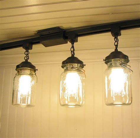 vintage canning jar track lighting this for the