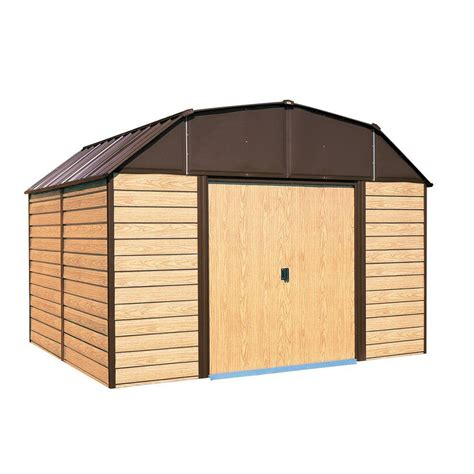 Storage Shed Floor by Arrow Woodahven 10 Ft X 14 Ft Steel Storage Shed With