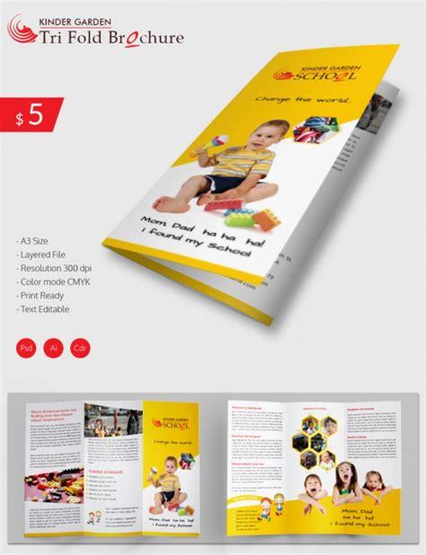 preschool brochure psd ai google docs apple pages