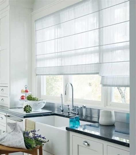 kitchen shades ideas 20 beautiful window treatment ideas for kitchen and bathroom decorating roman shades
