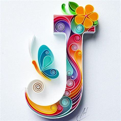 quilling wall paper art letter  paper art personalized monogram gift birthday gift