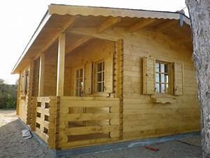 Chalet En Bois Habitable Livré Monté : maison de jardin avec ossature bois de loisirs 40m2 40 m ~ Dailycaller-alerts.com Idées de Décoration