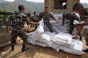 India Resumes Aid To Nepal by Before And After Photographs Of Nepal S Earthquake Daily Mail