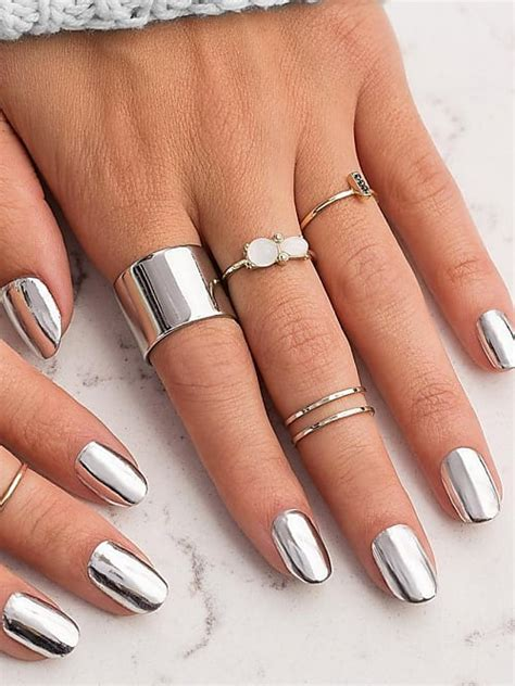 chrome nails 2017 39 s biggest nail trend stylight