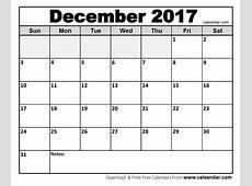 December 2017 Calendar Cute calendar yearly printable