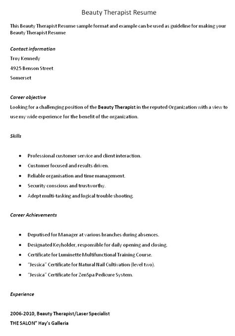cv for beauty therapist basic respiratory therapist cover letter samples and