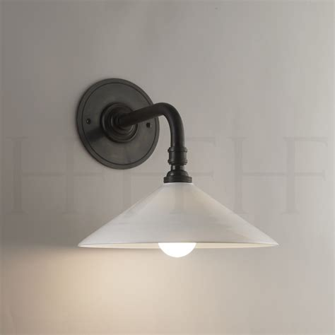 glass coolie wall light straight arm bracket hector