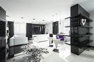 Deco Chambre Blanche : deco chambre noire et blanche ~ Zukunftsfamilie.com Idées de Décoration