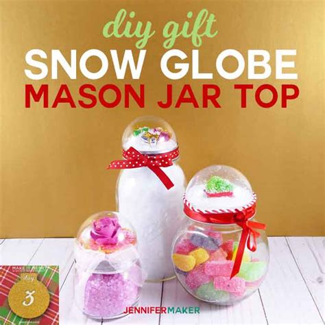 snow globe top mason jars rose glitter globe jennifer