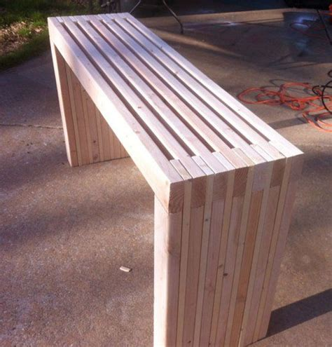 diy project    slatted console table diy