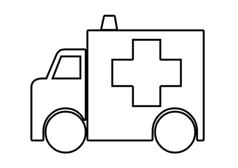 Ziekenwagen Kleurplaat kleurplaat ziekenwagen afb 22568