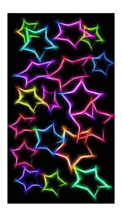 Iphone Neon Backgrounds Stars Rainbow Phone Colorful