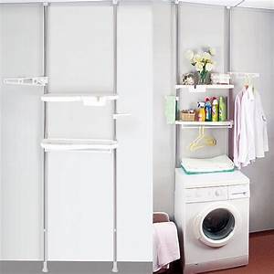 Regal Für Waschmaschine : teleskopregal badregal waschmaschine regal mit ablagen wc bad steckregal bz4109 ebay ~ Sanjose-hotels-ca.com Haus und Dekorationen