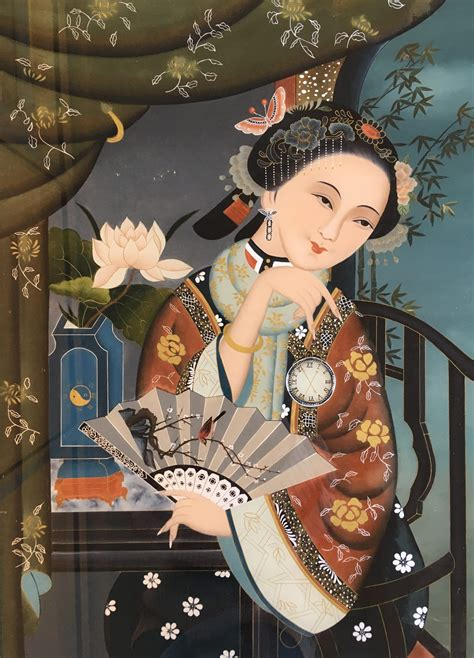 Early 1900's Original Oil Painting of Japanese Girl ...
