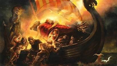 Viking Ship Norse Wallpapers Vikings Baldur Death