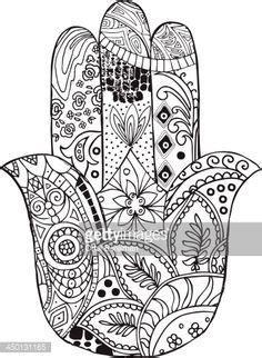 hamsa  palm shaped amulet  middle east decorated