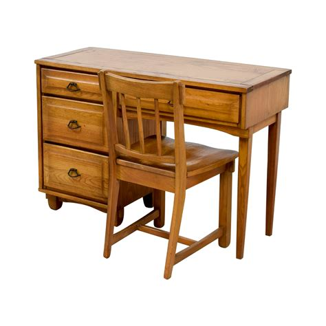 89% Off  Vintage Mid Century Oak Desk With Chair  Tables. Desks And Chairs. Giant Mouse Pad For Desk. Loft Bed With Desk Walmart. Small Desk For Apartment. Pop Desk Phone. White House Desk. Computer Desks Target. Drawer Insert