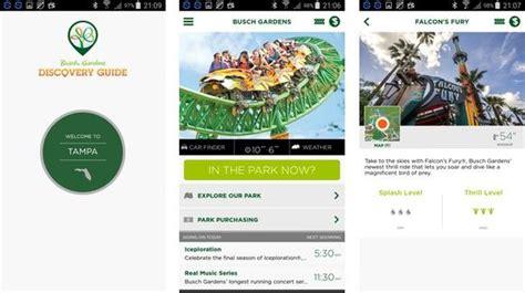 Busch Gardens Application - busch gardens mobile application florida review and