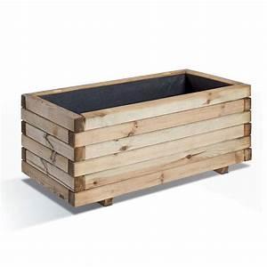 Bac En Bois Pour Plantes : bac fleurs bois trait l80 h33 cm stockholm plantes et ~ Dailycaller-alerts.com Idées de Décoration