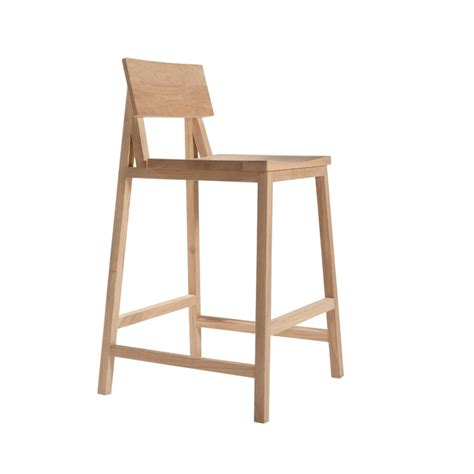 ethnicraft n3 solid oak bar stool stylish design at 4living