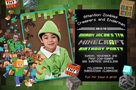 minecraft birthday invitation designs examples