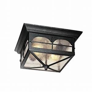 Hampton bay light aged iron outdoor flush mount hb