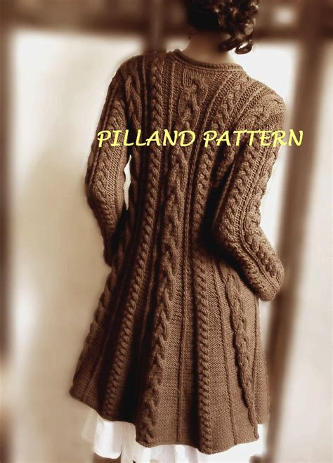 sweater knitting pattern cable knit coat sweater knitting pattern aran knit coat pdf