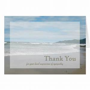 Sympathy thank you note card zazzle for Thank you note for condolence gift