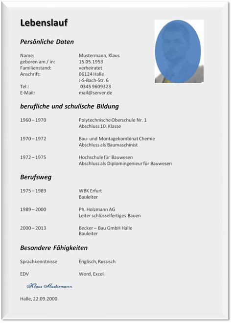 Lebenslauf Muster Formular by 21 Europ 228 Ischer Lebenslauf Formular Emovoid