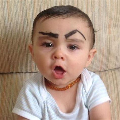 eyebrows  babies  yeah      pics
